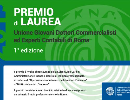 Premio UGDCEC Roma per neolaureati Luiss | Prima edizione